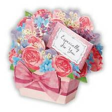 Lavender Scented Good Luck Floral Gift Basket Pop Up Greeting Card Mother's Day