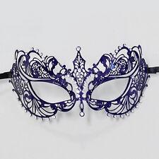 Extravagant Laser Cut Venetian Masquerade Mask for Women M7117 [Royal Blue]