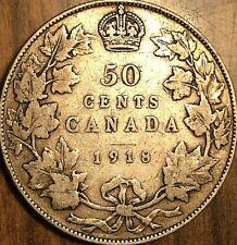 1918 CANADA SILVER 50 CENTS HALF DOLLAR