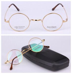 Vintage Round 42/44mm Luxury Titanium Eyeglass Frame Man Women Spectacles Glass