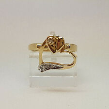 Gorgeous 14ct Gold Diamond Heart Spinner Ring.  Goldmine Jewellers.