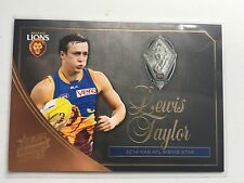 2015 Select Honours Rising Star Medal Card MW4 Lewis Taylor Brisbane