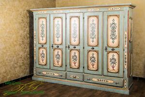 Voglauer Anno 1700 Antique Blue Wardrobe Farmhouse Wardrobe Bedroom Wardrobe