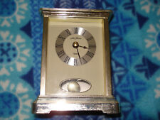 "Seth Thomas White Desk Mantel Shelf 5"" x 3.75"" Quartz Clock on Gold tone Frame"
