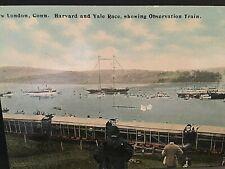 Postcard Harvard-Yale Boat Race, showing Observation Train in New London, CT. T3
