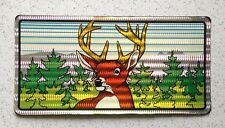 Deer Buck Hunting Retro Auto License Plate - Plastic with Reflective Laminate
