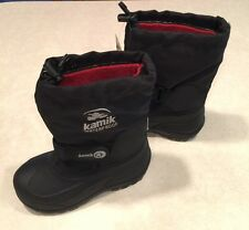 """KAMIK""""Waterbug5"""" Youth Insulated Black Snowboots~~Size 11"""