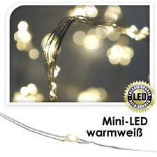LED Lichterdraht 95cm 20led innen Warmweiß Dekodraht Lichterkette Weihnachten