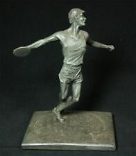 Vintage Marcel Jovine 1984 Olympics Bonded Pewter Discus Thrower