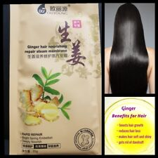 Hair Treatment Heated Steam Mask With Ginger Keratin Repair Damaged Split Ends