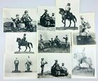 Vintage Lot Black & White Photographs Posed Lead Toy Soldiers Army Figures  *AL