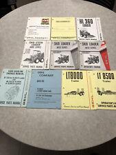 Vintage Gehl Skid Steer Loaders Amp Trailers Service Manuals Parts Manuals Lot
