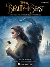 """DISNEY """"BEAUTY AND THE BEAST"""" EASY PIANO/KEYBOARD MUSIC BOOK BRAND NEW ON SALE!!"""