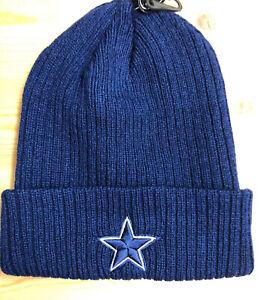 Dallas Cowboys Blue  Winter Hat Beanie Scull Cap Ribbed Cuffed