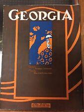 Georgia rare 1922 Sheet Music Howard Johnson Walter Donaldson Feist Publishing