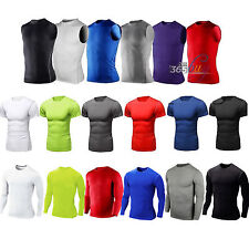 Men Compression T-Shirts Under Skin Short Sleeve Base Layer Tops Sports Athletic