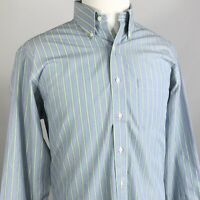 BROOKS BROTHERS NON IRON 346 MENS LONG SLEEVE STRIPE BUTTON DOWN SHIRT 16 4/5