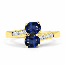 9 Carat Cocktail Sapphire Yellow Gold Fine Rings