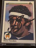 DEION SANDERS 1990 Upper Deck Autograph