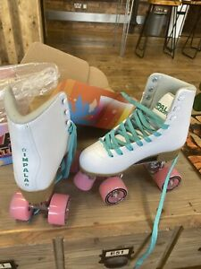 Impala Rollerskates White Quad Roller Skates UK Size 4 Vegan