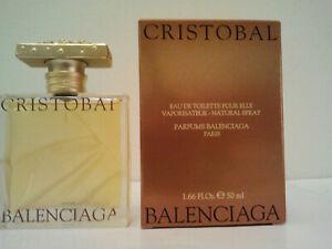 ORIGINAL BALENCIAGA CRISTOBAL 50ML EDT SPRAY WOMEN'S PERFUME FRAGRANCE RARE