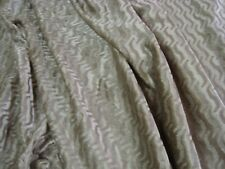 """One Yd CLARENCE HOUSE LHASA VELVET Beige Upholstery FABRIC 55"""" x 36"""" ITALY BTY"""