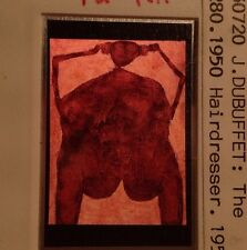 "Jean Dubuffet ""Hairdresser 1950 "" French 35mm Modern Art Slide"