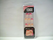 Fing'rs Edge Fashion Nails #22629 Pink Tips & Yellow Tips with Pink Zebra Tips