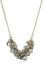Kenneth Cole New York Gold Glam Navy Faceted Stone Necklace K02779-N03 NIB