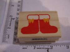 CHRISTMAS  BOLD SANTA CLAUS BOOTS  SILHOUETTE WM RUBBER STAMP