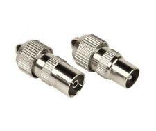 Coax Plug male and Coax socket female connectors 1 Pair