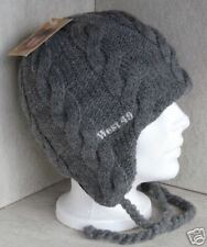 LADIES WEST 49 GREY CABLE SKI SNOWBOARD EAR  FLAP HAT