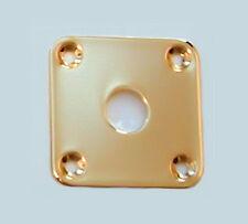 Guitar Parts - JACK PLATE Flat Flush SQUARE - GOLD