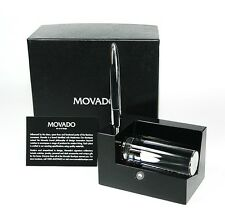 MOVADO MUSEUM BUSINESS CARD HOLDER WITH METAL PEN DBK000212M $150.00 NEW BOX