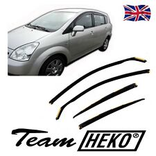 DTO29366 TOYOTA COROLLA VERSO 4 DOOR 2004-2009 WIND DEFLECTORS 4pc HEKO TINTED