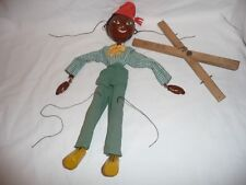 Vintage SS Pelham puppet turc 1950 S Homme Composition mains en Bois Marionette
