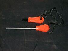 Magnesium Fire Starter W/Striker/Scraper Knife & Black Cord Original Packaging