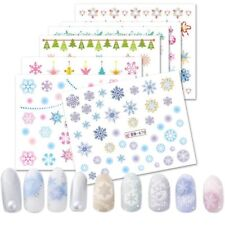 Nail Art Water Transfer Merry Christmas Stickers Snowflake Decals 12Designs/Set