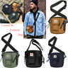 Men Shoulder Bag Black Women Adjustable Strap Crossbody  Sport Messenger Bag!