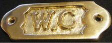 Plaque laiton WC - COULEURMER - 95 mm - bateaux - décoration - cadeau