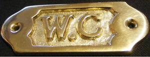 Targhetta Ottone Wc - Couleurmer - 95 MM - Barca - Decorazione - Regalo