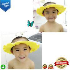New listing Cool Children Waterproof Cap Safe Baby Shower Cap Kids Bath Visor Hat 2K20