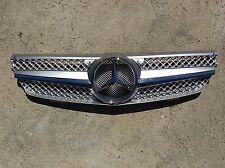 Silver W209 Grille GRA-W209-0308W-SLN-SL, CLK Class, New, (Fits: Mercedes)