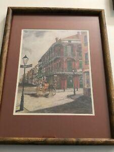 """K. Engelhardt Vintage Print, New Orleans, Framed, 8 1/2"""" x 10 1/2"""" (Image)"""