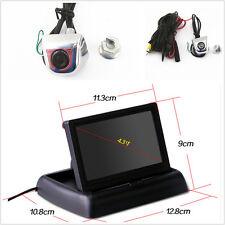 "4.3"" Foldable Display Monitor+Car License Screw Mini Rear View Backup Camera Kit"