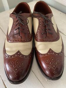 Paul Stuart's Choice Grenson Masterpiece 10.5 D Spectator Brogue Wingtip Shoes