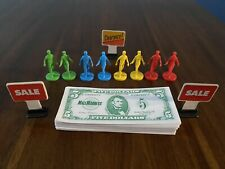 1996 Mall Madness Game Replacement Lot of 8 Playing Pieces Money and Signs