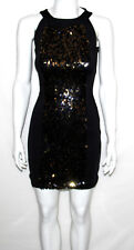 NEW K-DASH by Kardashian Size 0 BLACK Sequin Dress with Knit Side Panel