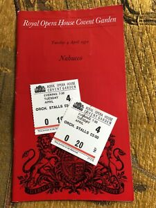 Royal Opera House Programme 1972 Verdi Nabucco - Elena Suliotis, Ermanno Mauro
