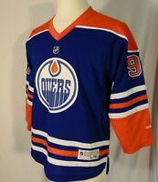 Connor McDavid #97 Edmonton Oilers NHL Jersey Youth XL Vintage Reebok Blue